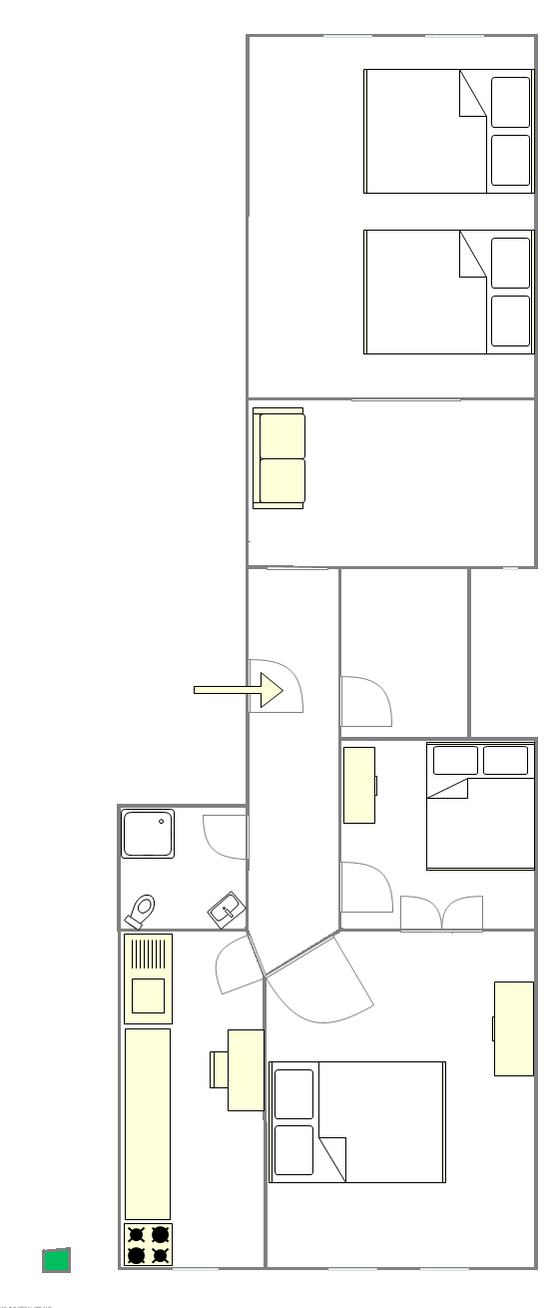 Apartment Clinton - Interactive plan