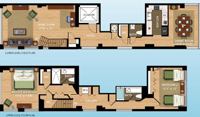 Duplex Sutton - Interactive plan