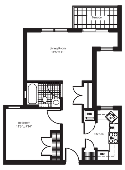 Penthouse Harlem - Interactive plan