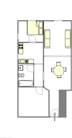 Apartment Washington Heights - Interactive plan