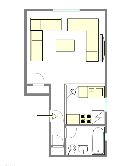 Apartment Hamilton Heights - Interactive plan
