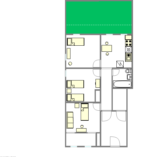 Apartment Woodside - Interactive plan