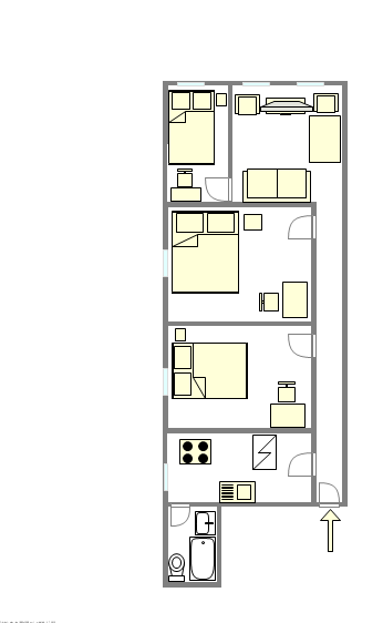 Apartment Upper West Side - Interactive plan