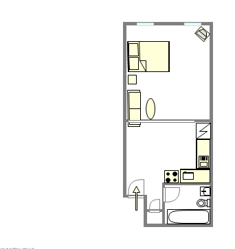 Wohnung Upper East Side - Interaktiven Plan