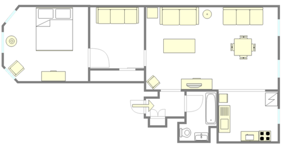 Apartment Kensington - Interactive plan