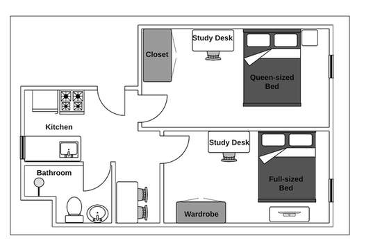 Appartement Chelsea - Plan interactif