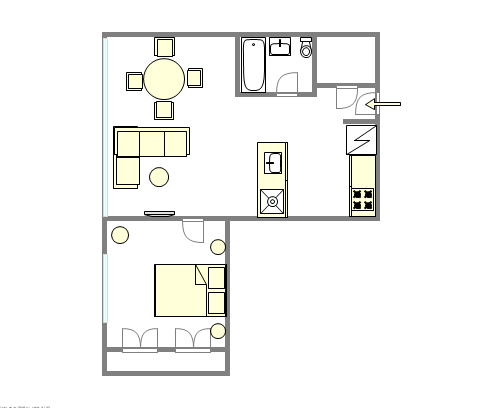 Modern residence Upper West Side - Interactive plan