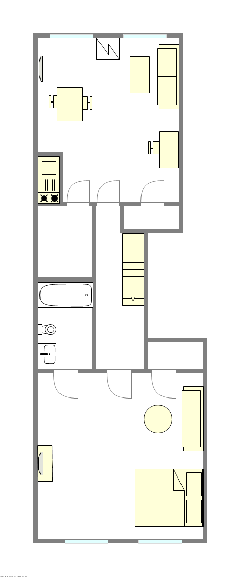 Apartment Fort Greene - Interactive plan