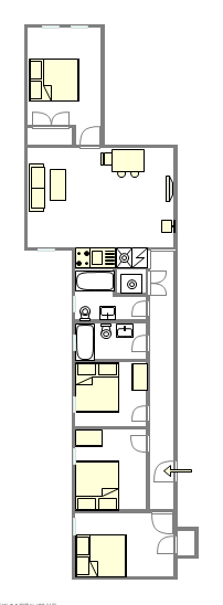 Appartement Harlem - Plan interactif