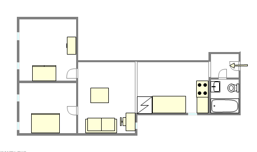 Apartment Bronx - Interactive plan