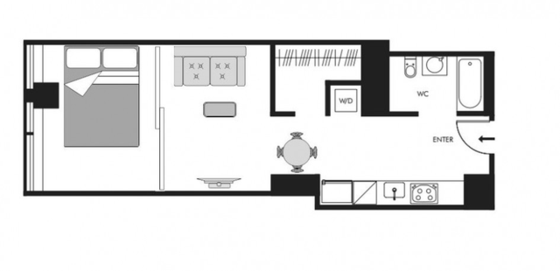 Modern residence Financial District - Interactive plan