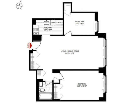 Apartment Upper East Side - Interactive plan