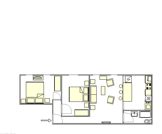 Apartment Bedford Stuyvesant - Interactive plan