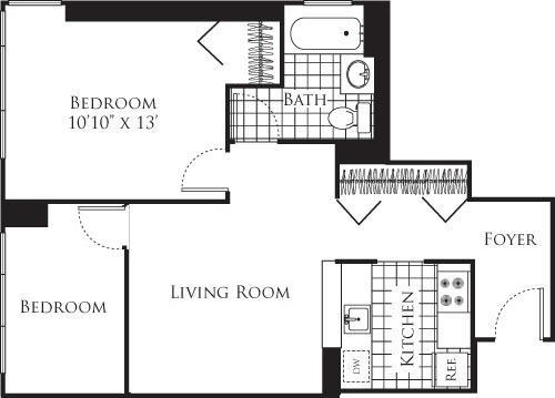 Apartment Hell's Kitchen - Interactive plan