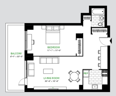 Apartment Yorkville - Interactive plan