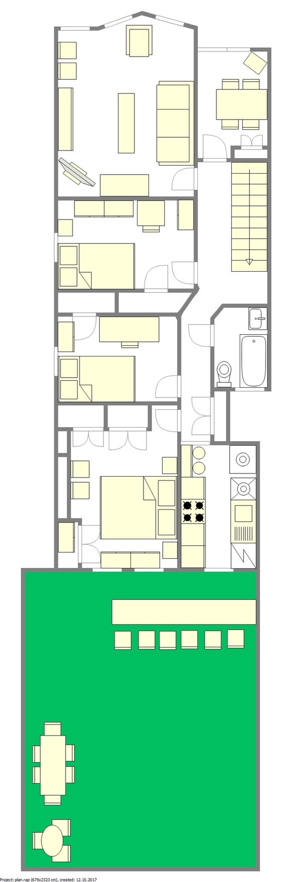 Apartment Long Island City - Interactive plan