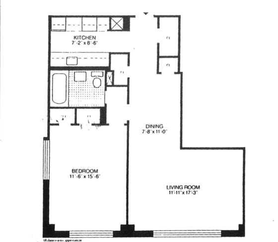 Apartment Brooklyn Heights - Interactive plan