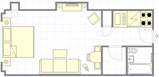 Apartment Turtle Bay - Interactive plan