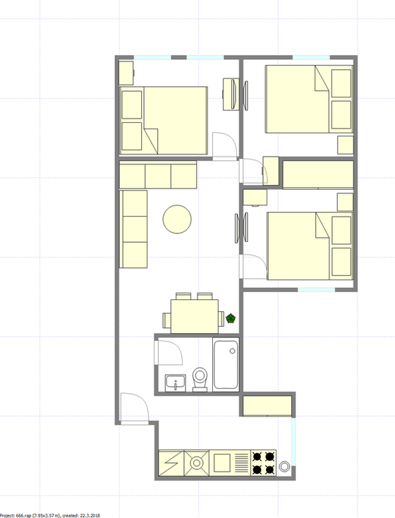 Apartment China Town - Interactive plan