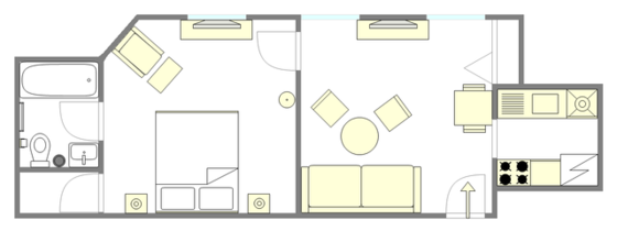 Apartment Midtown West - Interactive plan