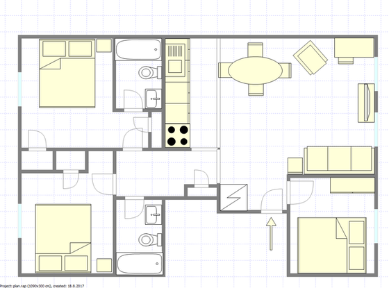Apartment Flatbush - Interactive plan