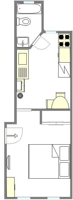 Apartment Astoria - Interactive plan