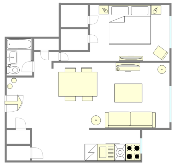 Apartment Midtown East - Interactive plan