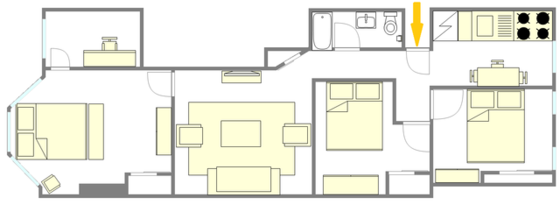 Apartment Bushwick - Interactive plan