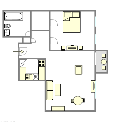 Apartment West Village - Interactive plan