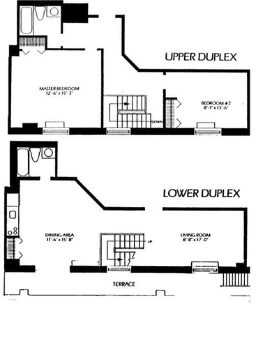 Duplex Midtown West - Interactive plan
