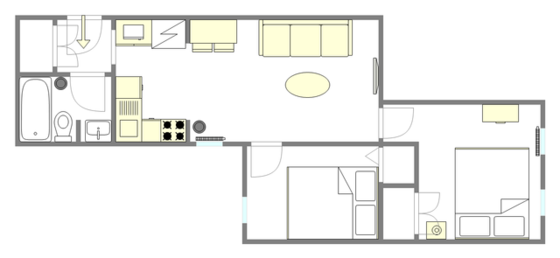 Apartment East Village - Interactive plan