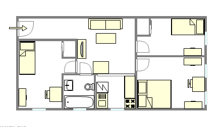 Apartment Sunset Park - Interactive plan