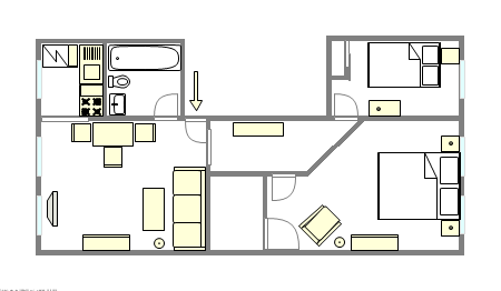Apartment Clinton Hill - Interactive plan