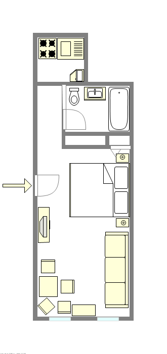 Apartment Boerum Hill - Interactive plan
